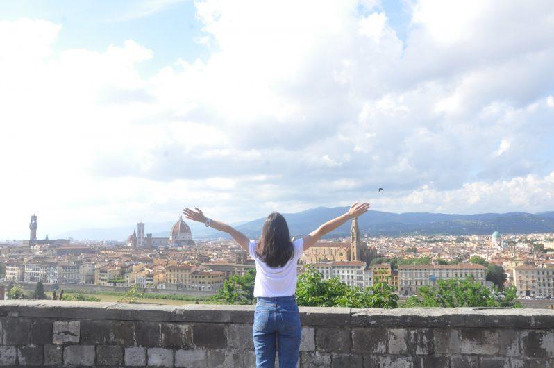 Michelangelo Tepesi'nden Floransa'nın görünüşü.