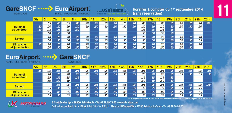 Basel Mulhouse Havaalanı'ndan St.Louis tren istasyonuna otobüsle ulaşım saatlerini buradan kontrol edebilirsiniz